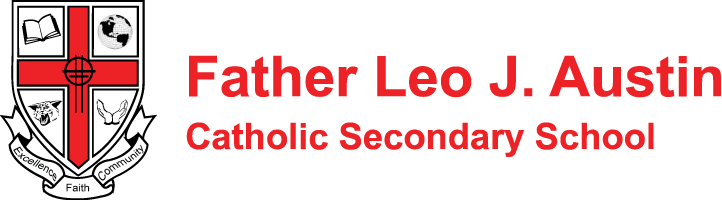 Father Leo J. Austin Catholic Secondary School logo